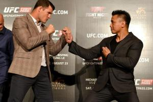 bisping cung le staredown ufc fight night